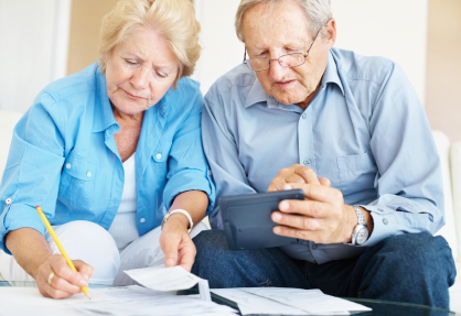 Elderly Couple Choosing insurance