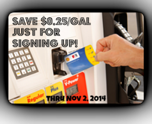 Save $0.25/gal just for signing up and even more for activities in the program!